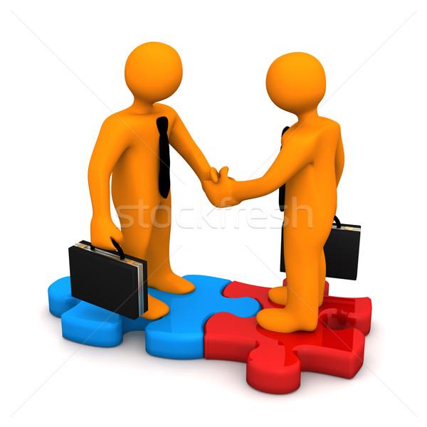 Handshake Puzzle Stock photo © limbi007