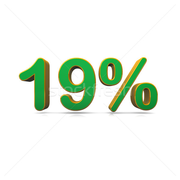 19 процент зеленый цвета белый продажи Сток-фото © limbi007