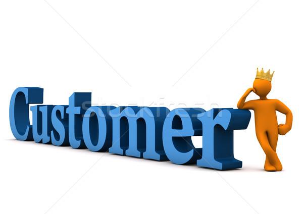 Customer With Crown Stock photo © limbi007