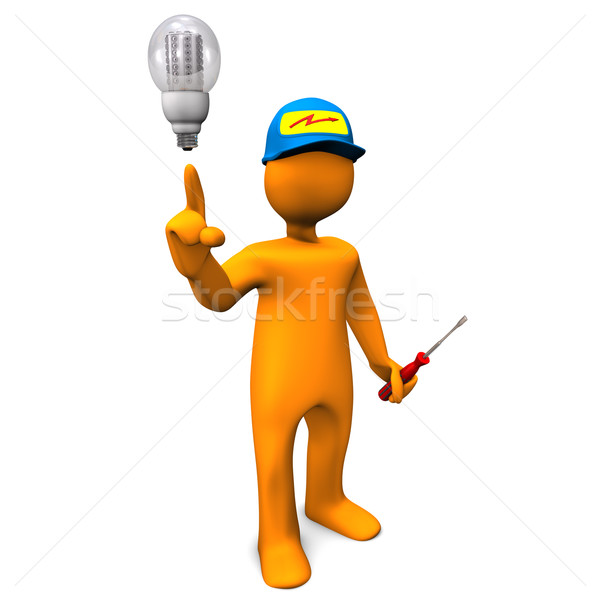 Electrician LED Stock photo © limbi007