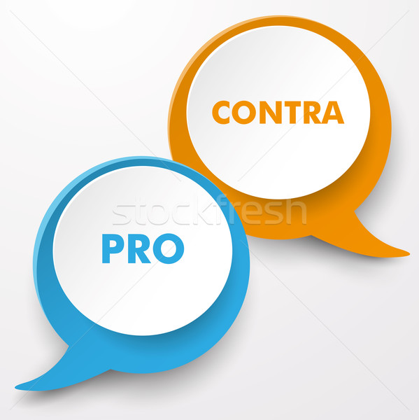 Pro Contra Speech Bubble Labels Stock photo © limbi007