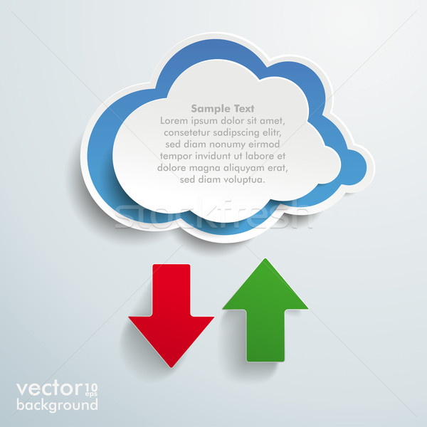 Blue Cloud Upload Download Stock photo © limbi007