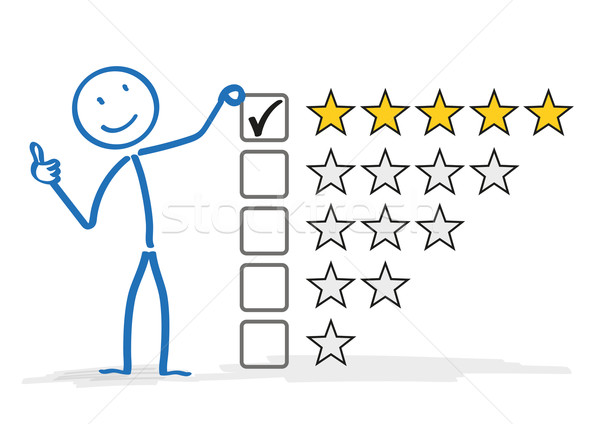 Stickman 5 Stars Rating Stock photo © limbi007