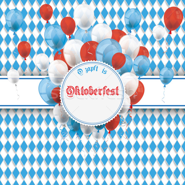 Bavarian Oktoberfest Flyer Banner Emblem Balloons Stock photo © limbi007