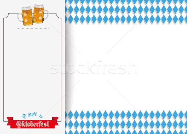 Oktoberfest Oblong Banner Beer Ribbon Stock photo © limbi007