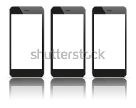 черный зеркало Тени белый Сток-фото © limbi007
