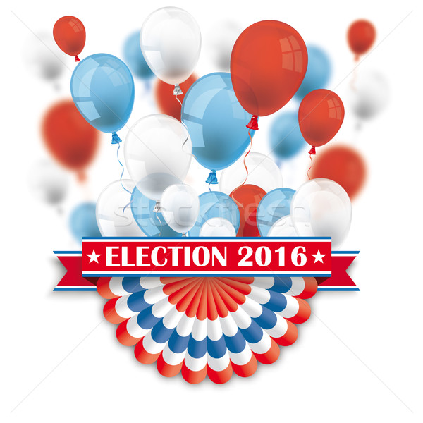 Election 2016 Bunting Balloons Stock photo © limbi007