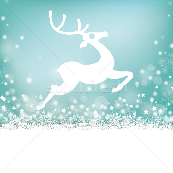 Reindeer Stars Snow Bokeh Stars Cover Stock photo © limbi007