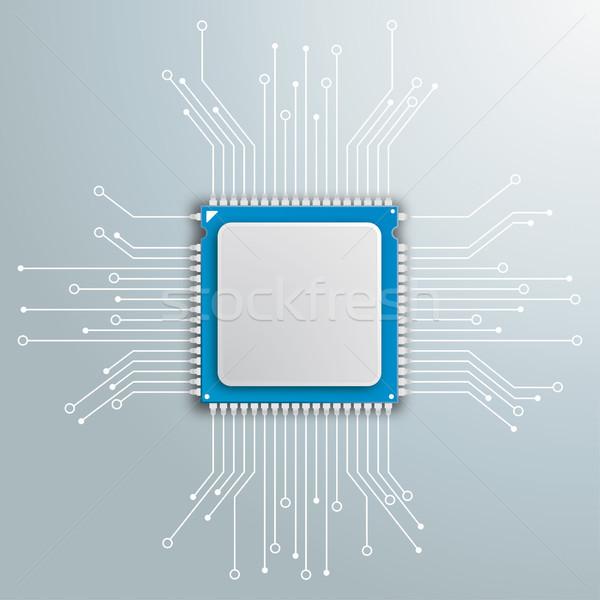 Futuriste processeur circuit électronique gris Photo stock © limbi007