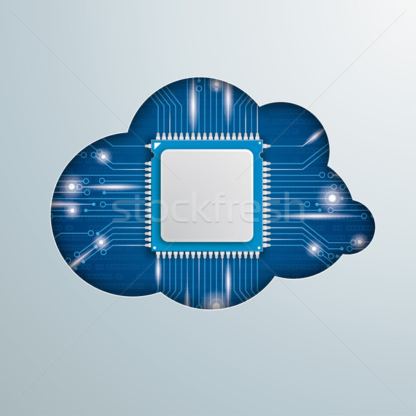 Cloud Computing Microchip Stock photo © limbi007