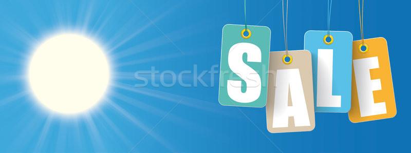 Sun Colored Price Stickers Slae Header Stock photo © limbi007