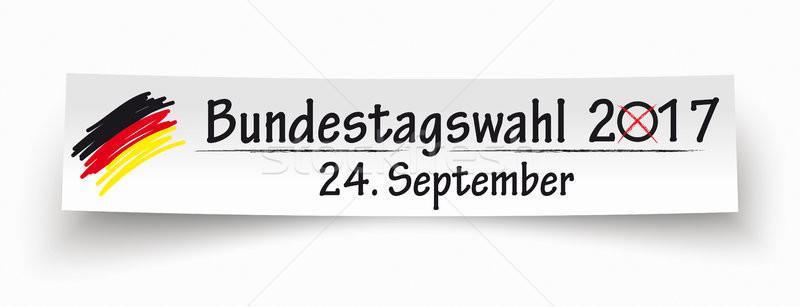 Paper Banner Bundestagswahl 2017 Stock photo © limbi007