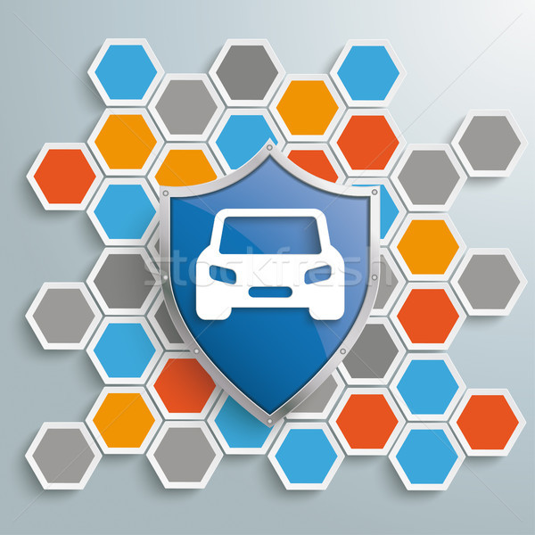 Colored Honeycomb Background Protection Shield Car Stock photo © limbi007