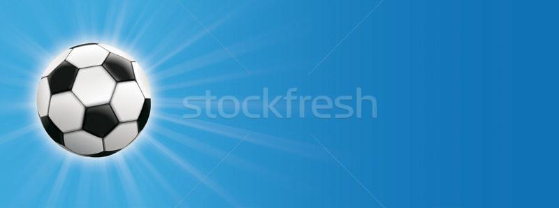 Clássico futebol blue sky eps Foto stock © limbi007