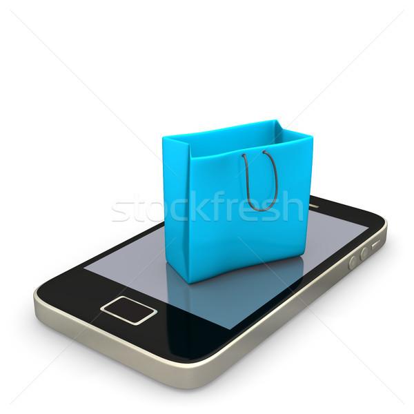 Shopping Bag Smartphone Stock photo © limbi007