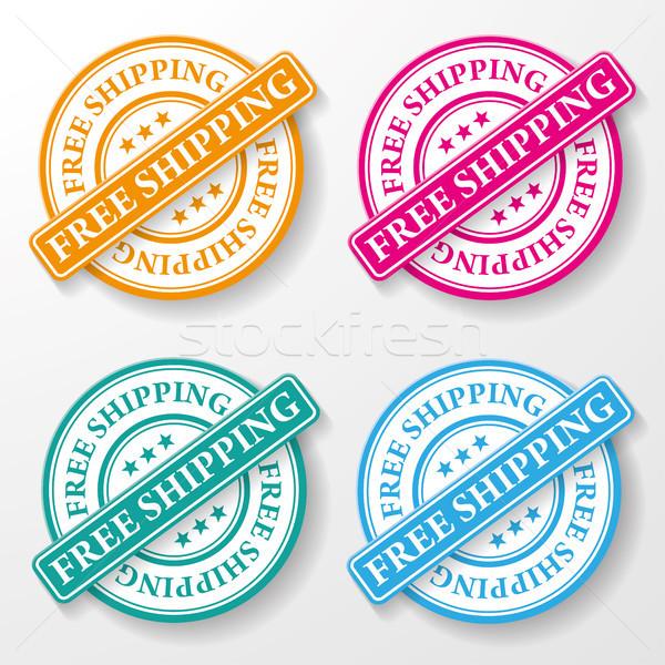 ücretsiz gönderim kâğıt etiketler renkli eps 10 Stok fotoğraf © limbi007