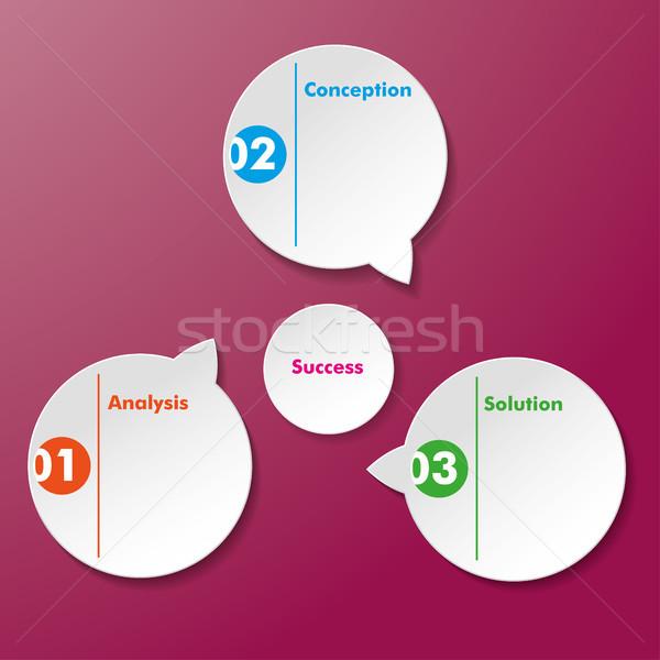 Analysis conception Solution Success Stickers Stock photo © limbi007