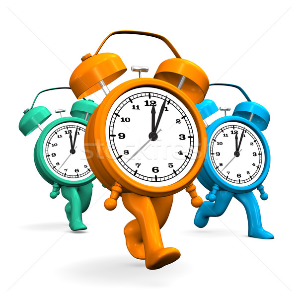 Corrida relógio azul retro correr Foto stock © limbi007