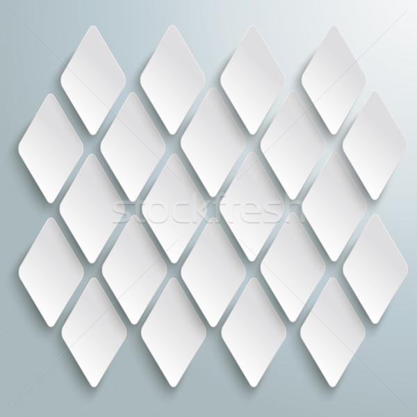 White Rhombus Pieces Structure Background Stock photo © limbi007