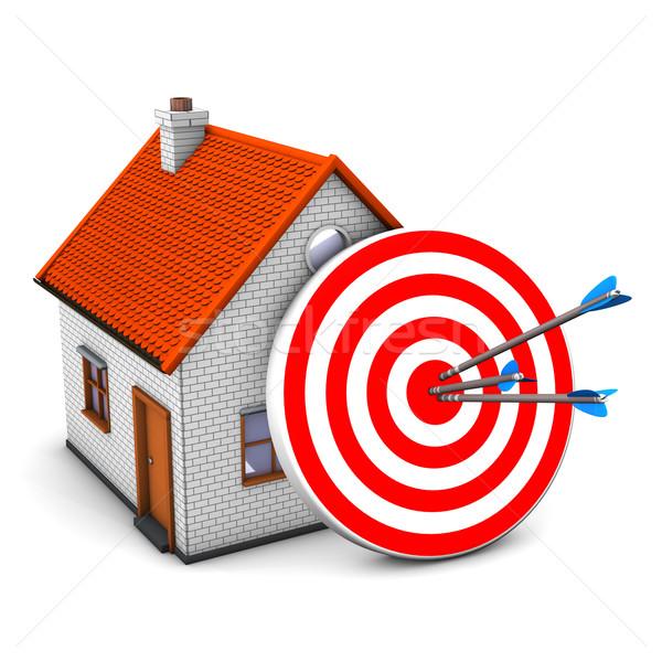 Red Target House Stock photo © limbi007