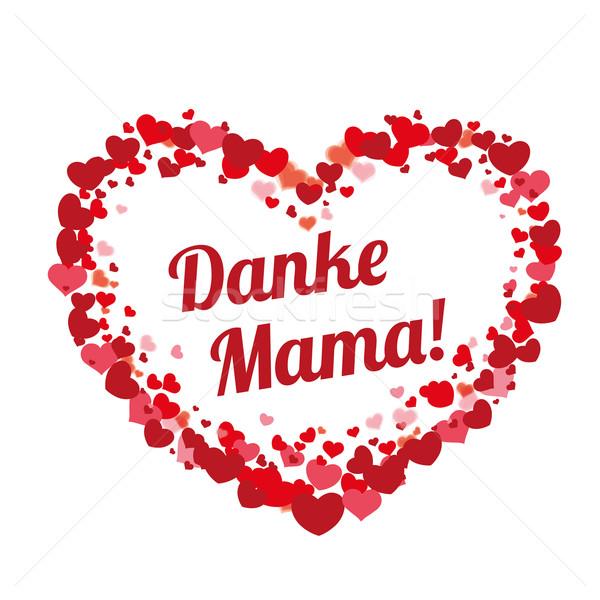 Grande cuore amore testo mama grazie Foto d'archivio © limbi007
