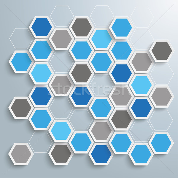 Blue Abstract Honeycomb Papers Background Stock photo © limbi007