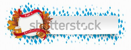 Foto stock: Oktoberfest · emblema · follaje · cerveza · galleta · salada