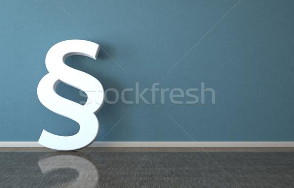 Absatz Zimmer weiß 3D-Darstellung Wand Hintergrund Stock foto © limbi007