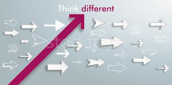 Arrows Growth Success Think Different Stock photo © limbi007