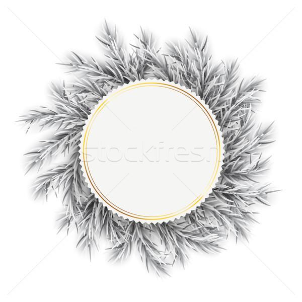заморожены эмблема белый прибыль на акцию 10 Сток-фото © limbi007