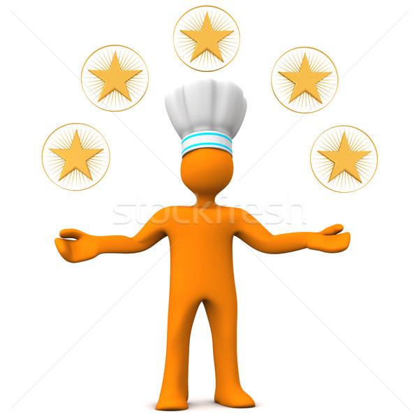 Five-Star Chef Manikin Stock photo © limbi007