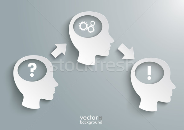 Three Heads Question Solution Gears Stock photo © limbi007