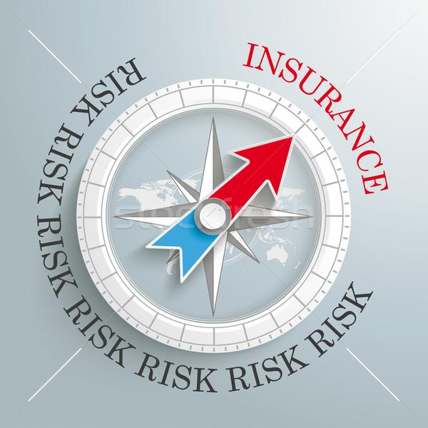 Compass Silver Background Risk Insurance Stock photo © limbi007