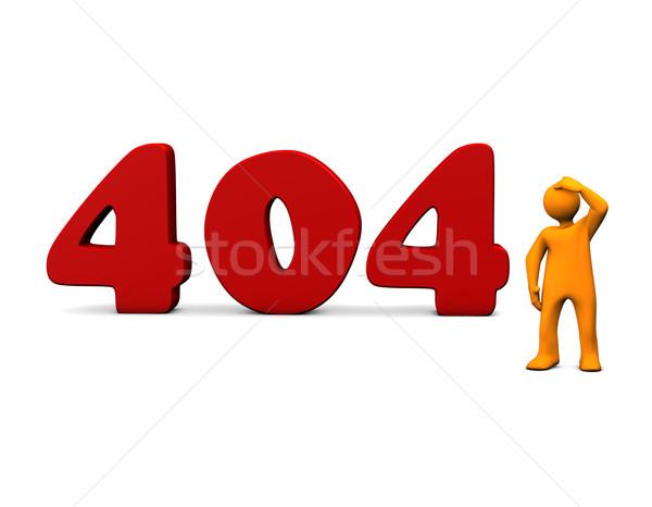 404 errore di arancione cartoon rosso testo Foto d'archivio © limbi007