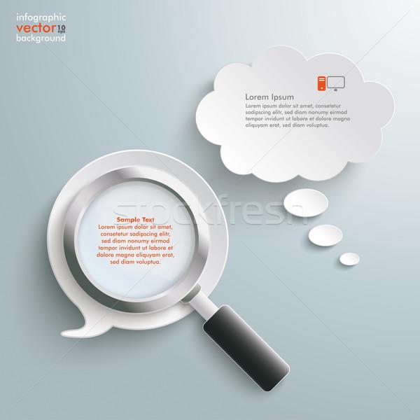 Loupe Speech and Thought Bubbles Stock photo © limbi007