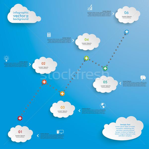 Idővonal sikeres diagram felhők kék eps Stock fotó © limbi007