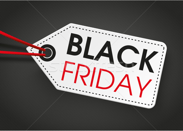 Price Sticker Black Friday Dark Background Stock photo © limbi007