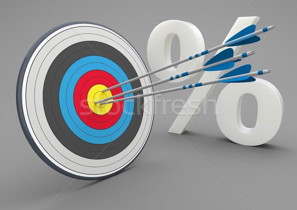 Stock photo: Target Arrows Percent