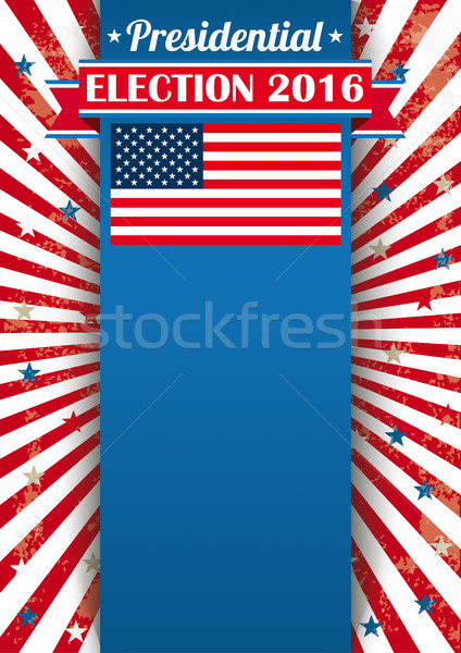 Presidential Election 2016 Oblong Banner Ribbon Stock photo © limbi007