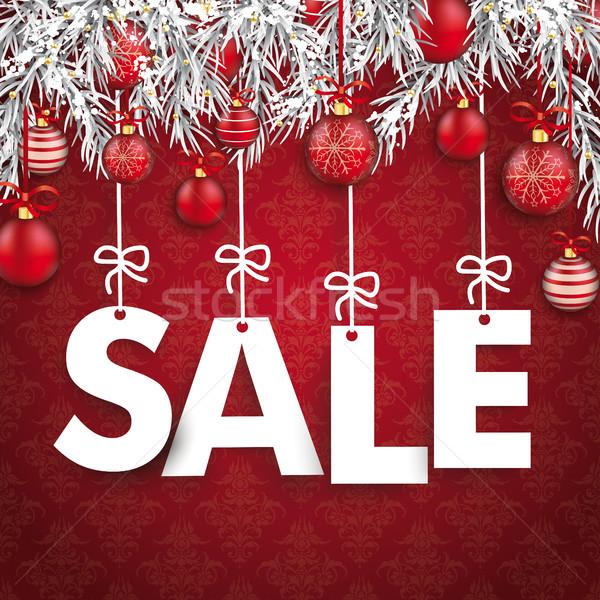 Navidad adornos venta colgante cartas congelado Foto stock © limbi007