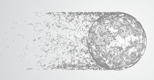 Abstract Background Connected Dots Comet Stock photo © limbi007