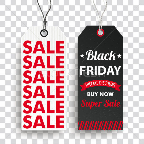 Two Long Price Stickers Black Friday Super SaleTransparent Stock photo © limbi007