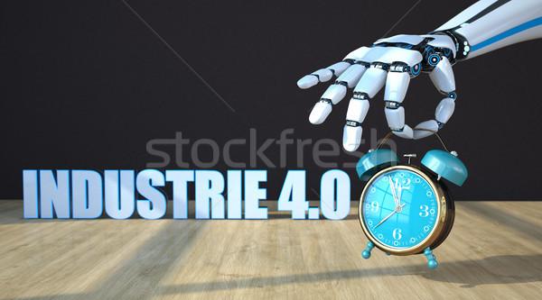 Robot Hand Alarmer Industrie 4.0 Stock photo © limbi007