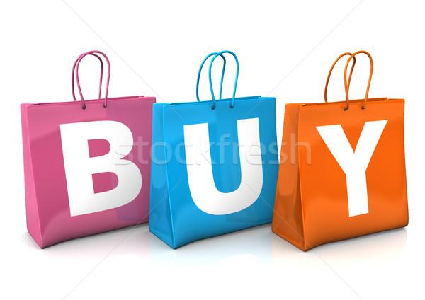 Сток-фото: купить · три · красочный · текста · белый