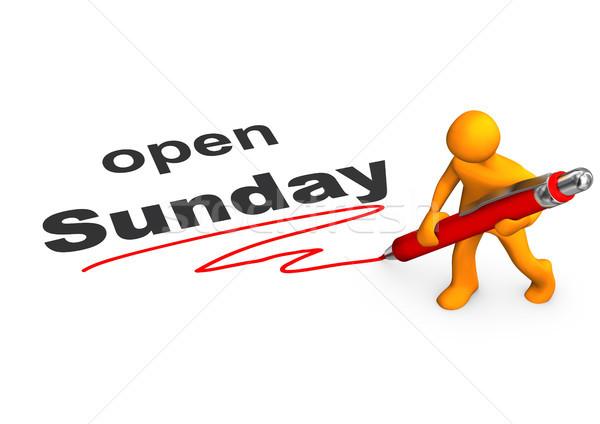 Manikin Ballpen Open Sunday Stock photo © limbi007
