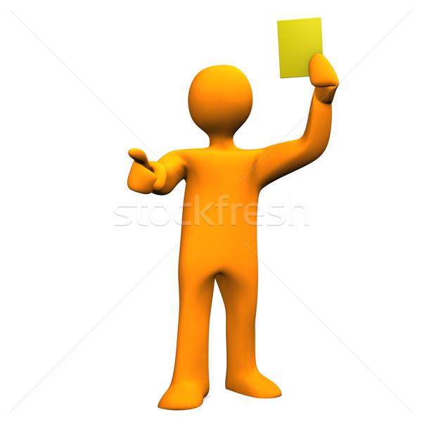 Arbitro giallo carta arancione bianco Foto d'archivio © limbi007