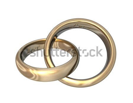 Wedding Bands Gold 3D Stock photo © limbi007