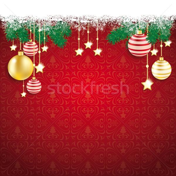 Сток-фото: красный · Рождества · охватывать · белый