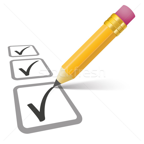 Pencil Checklist 3 Ticks Stock photo © limbi007