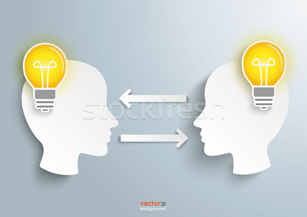 2 Heads 2 Bulbs Stock photo © limbi007